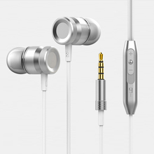 Stereo HeadPhone In Ear Earphone Metal Handsfree Headset with Mic 3.5mm Earbuds For All Phone MP3 Player hot sale stereo bass earphone in ear headphones handsfree headset 3 5mm earbuds with mic for all mobile phone mp3 player