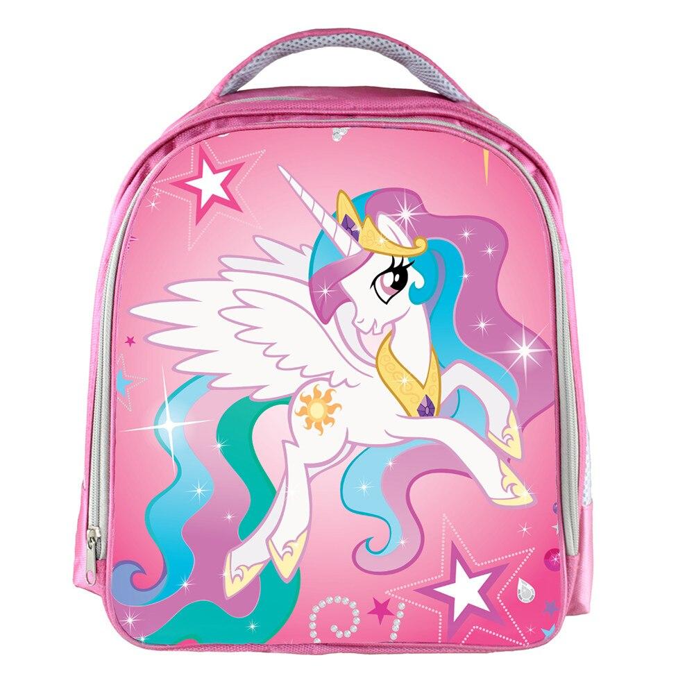 Moive My Little Pony Pink Waterproof Backpack Students School Bag For Girls Boys Rucksack mochila children Backpack customize