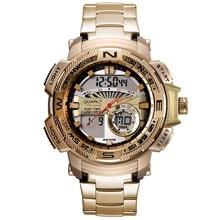 GEEKER Men Watches Brand Men's Quartz Hour Analog Digital LED Sports Watch Men Army Military Wrist Watch Relogio Masculino