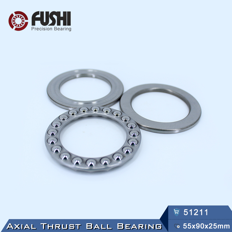 51211 Thrust Bearing 55*90*25 mm ( 1 PC ) ABEC-1 Axial 51211 Ball Bearings 8211 багажник fico r43 black fi r43 b