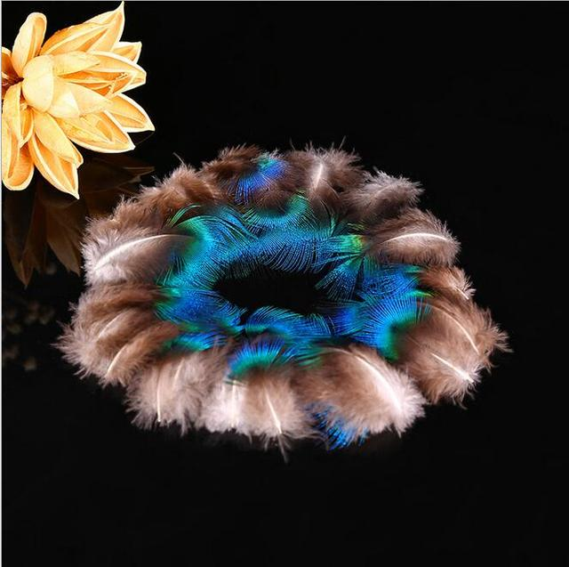 true peacock feather trimmed peacock eye sewing wedding christmas decorations 3 5cm 50 pcs - Peacock Christmas Decorations