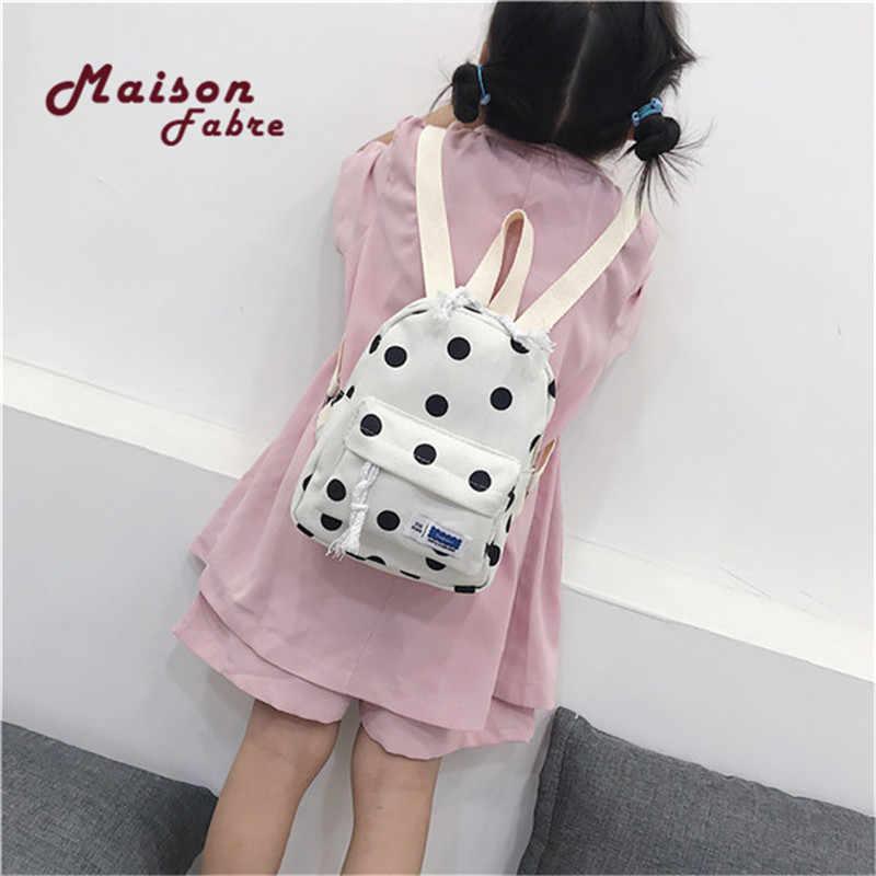 Мини-студенческий рюкзак в горошек, дорожная сумка, рюкзак, модный детский Одноцветный 4 цвета, Mochila, сумка на молнии для девочек, рюкзак, zaino Mochila