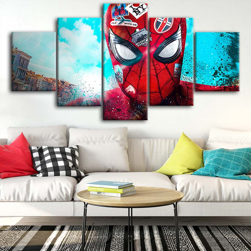 Canvas-Posters-Home-Decor-Wall-Art-Framework-5-Pieces-Spider-Man-Love-NYC-Paintings-For-Living (1)