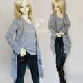 Multicolor Layered Long Pullover Shirt for BJD 1/4 1/3 MSD SD Doll Clothes CMB12