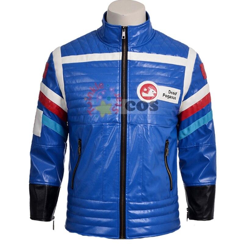 2017 newest customized men leather jacket My Chemical Romance Gerard Way jacket blue motorcycle leather jacket