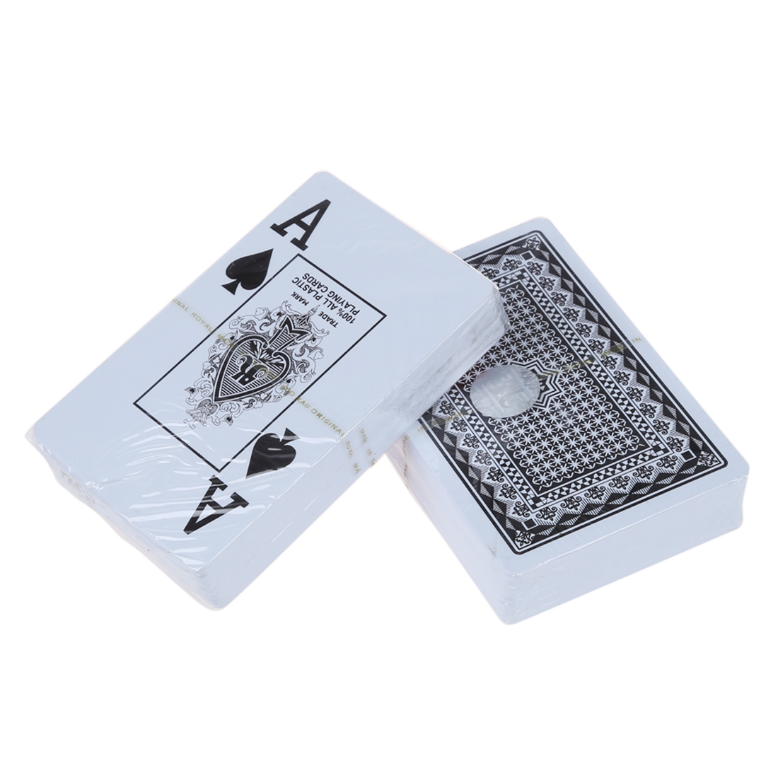 2 DECK 100% PLASTIC POKER SIZE PLAYING CARDS