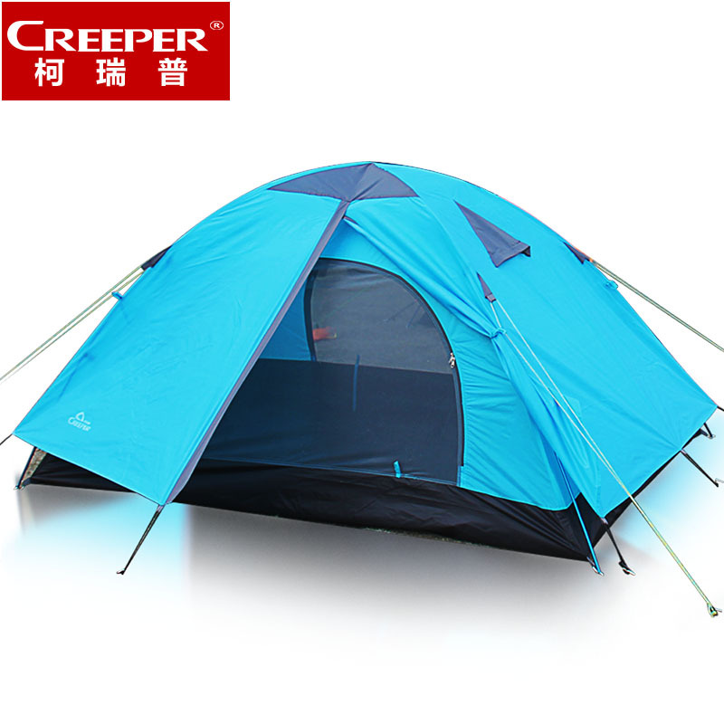Ultra-light 1.8KG double layer bivvy tent 2 people camping tent for hiking trekking backpacking fishing tourist high quality outdoor 2 person camping tent double layer aluminum rod ultralight tent with snow skirt oneroad windsnow 2 plus