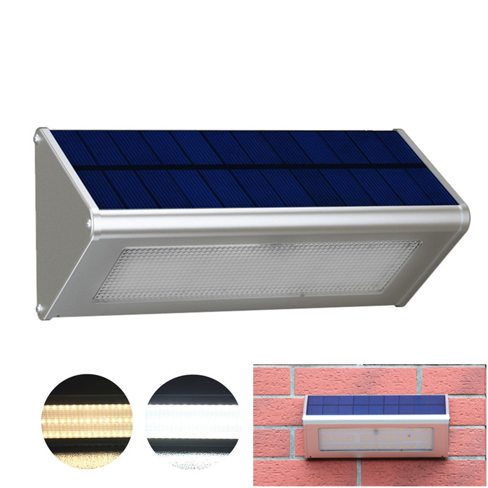 Outdoor Wall Light Security Solar Lamp With Motion Sensor Aluminum Alloy Street Porch Light lampada 48 LED 800LM WaterproofOutdoor Wall Light Security Solar Lamp With Motion Sensor Aluminum Alloy Street Porch Light lampada 48 LED 800LM Waterproof