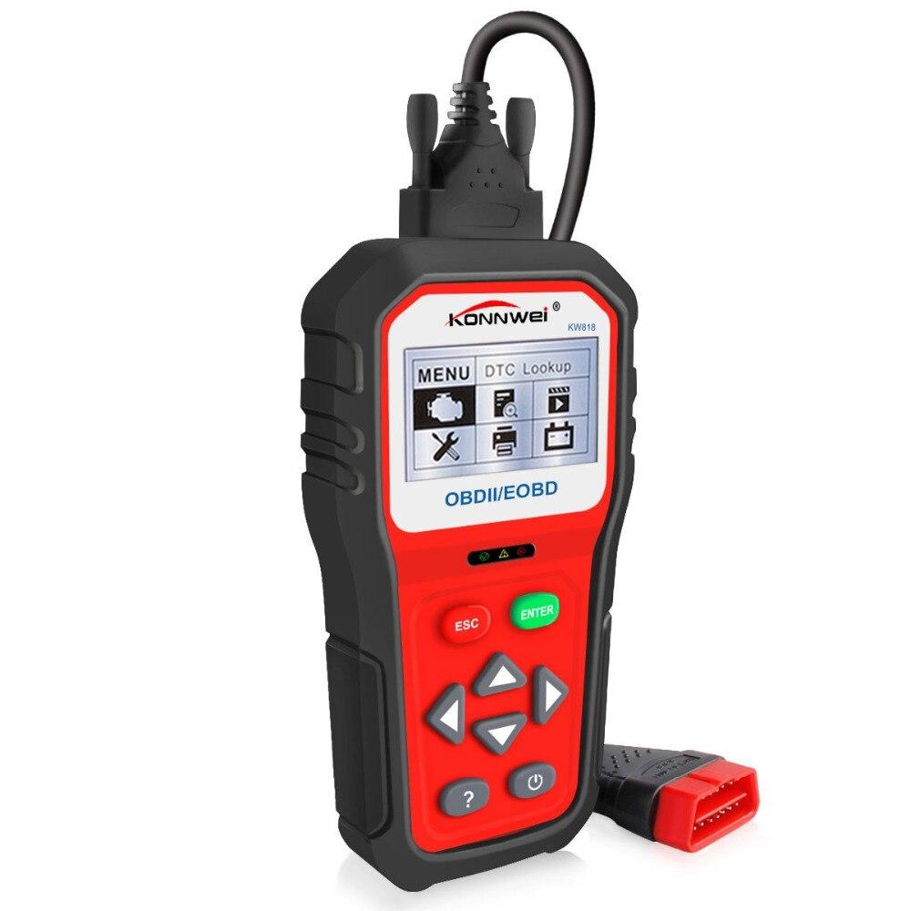 Muliti-language OBDII ODB2 EOBD voiture Diagnostic Scanner automatique testeur de batterie vérifier moteur Code lecteur outil livraison gratuite