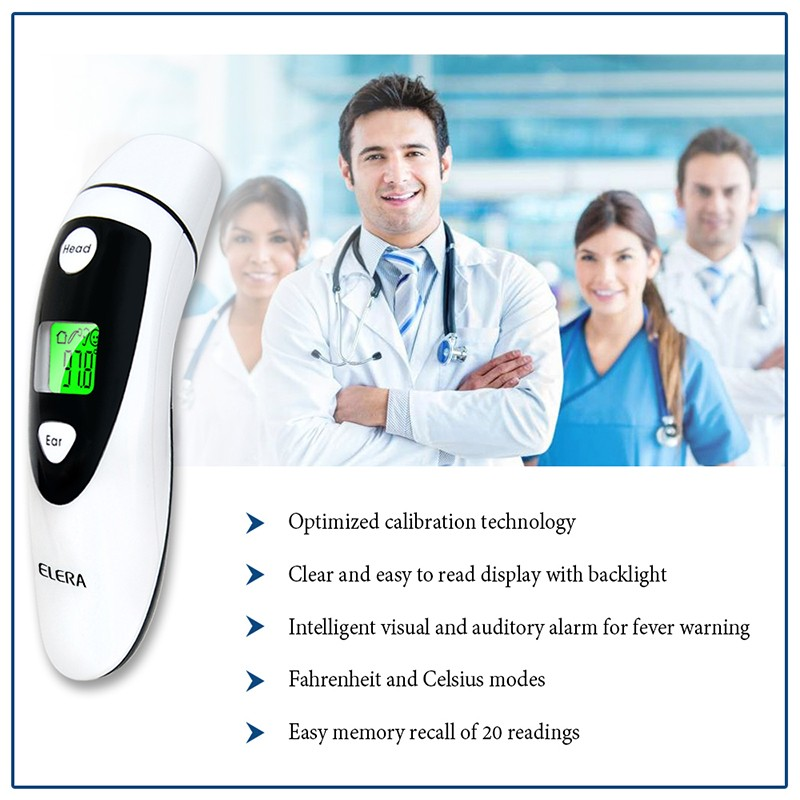 Baby adult Non-contact LCD Digital Ear & Forehead Laser Infrared Thermometer