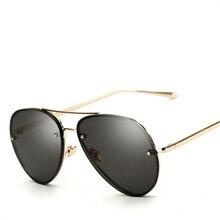 2017 Fashion Cat Eye Sunglasses Women Classic Brand Designer Twin-Beams glasses Coating Mirror Flat Panel Lens oculos
