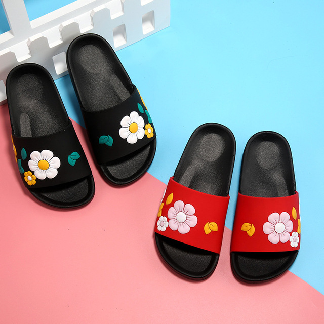 2017 Fashion Baby Childrenu0027s Slippers Cute Cartoon Slippers Summer Girls  Beach Slippers Home Kids Shoes