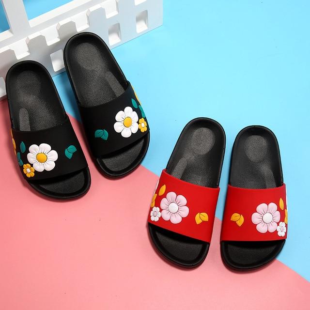 2017 Fashion Baby Childrenu0027s Slippers Cute Cartoon Slippers Summer Girls  Beach Slippers Home Kids Shoes