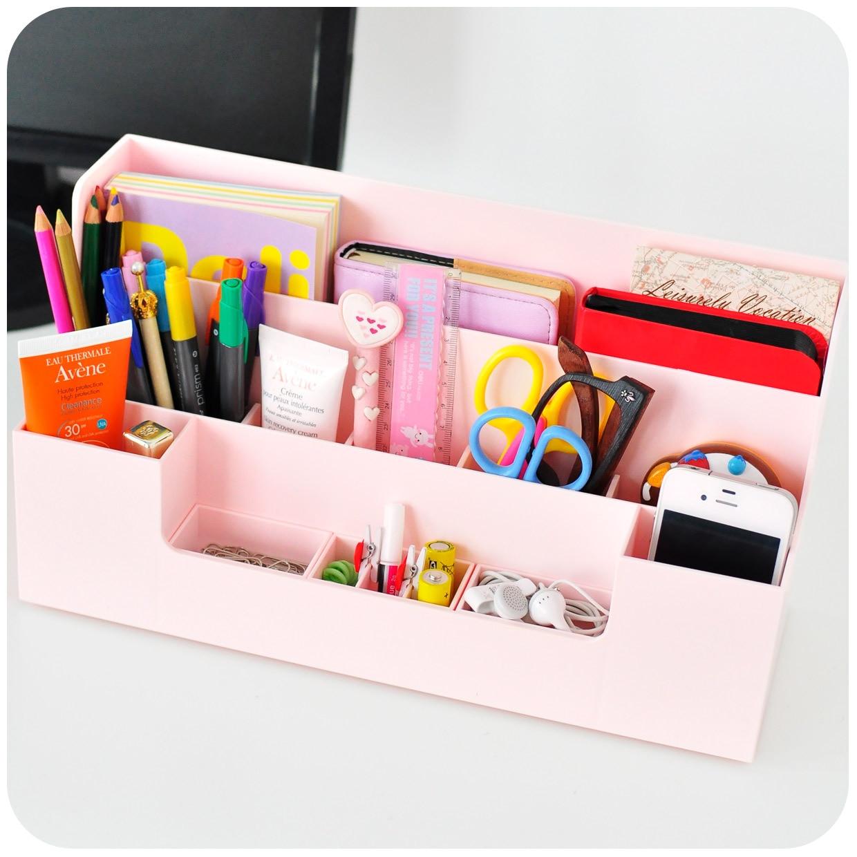 multifunctional desktop storage rack shelf home office desk sort management plastic storage shelving organization cheap office shelving
