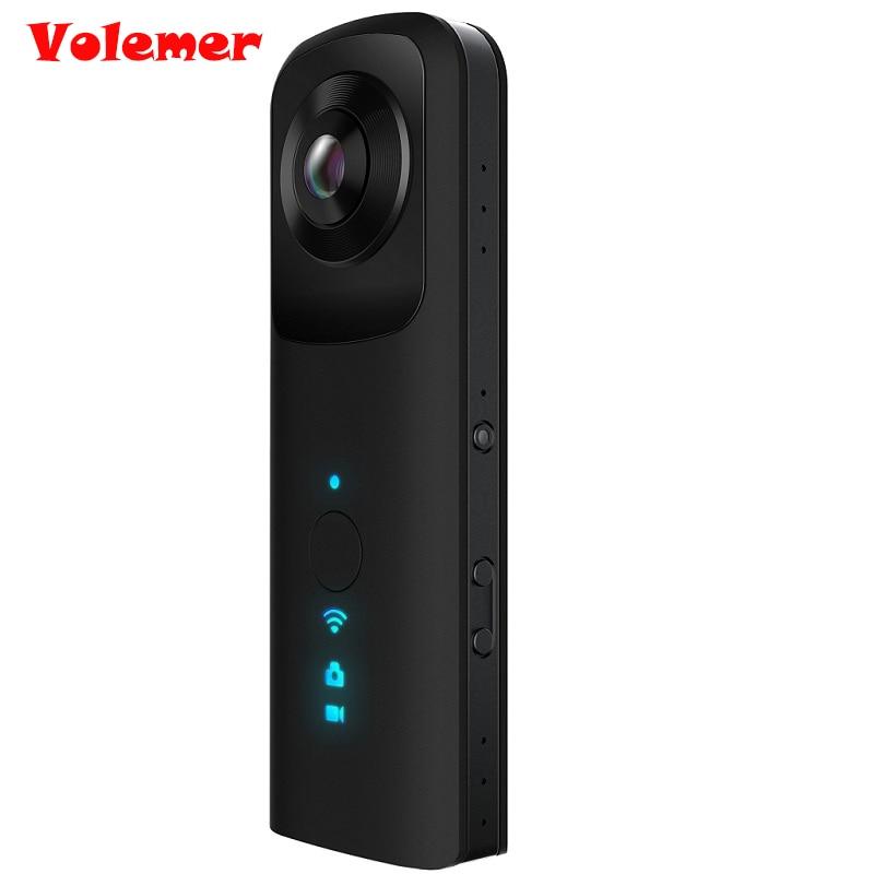 G601 Volemer Panorama Panorâmica de 360 Graus Câmera De Vídeo HD Wi-fi VR Câmera 360 Câmera Dupla fish-eye Camera para IOS Android telefone