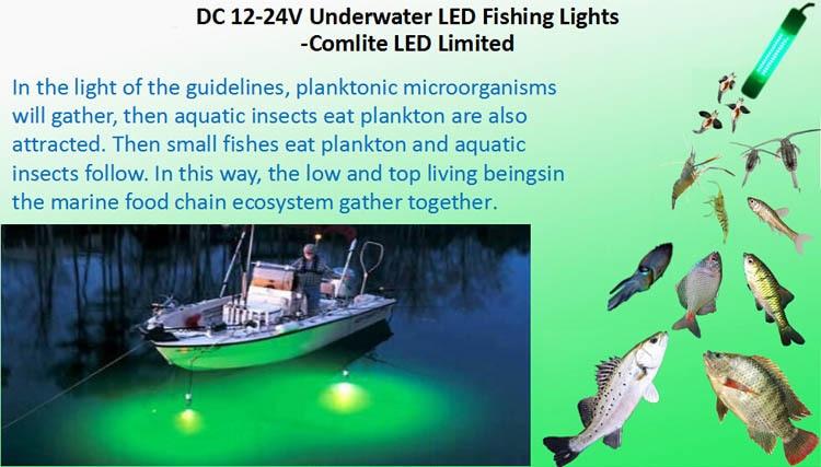 200W Red Green Blue color Marine Boat Underwater LED Squid Fishing Light 12VDC/24VDC