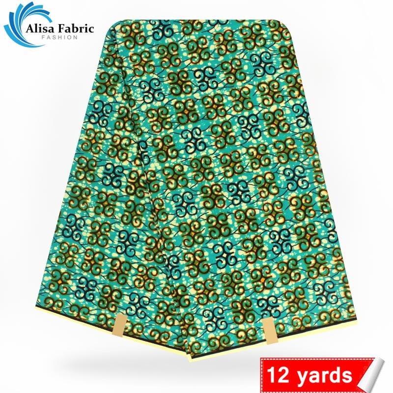 new arrival african wax prints fabric real super wax hollandais 12 yards 100% cotton high quality dutch wax for dress