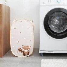 Складывающиеся для грязного белья Прачечная домашняя корзина для хранения большой размер коробка с Милая кошка, кролик Пингвин Органайзер Домашний для хранения