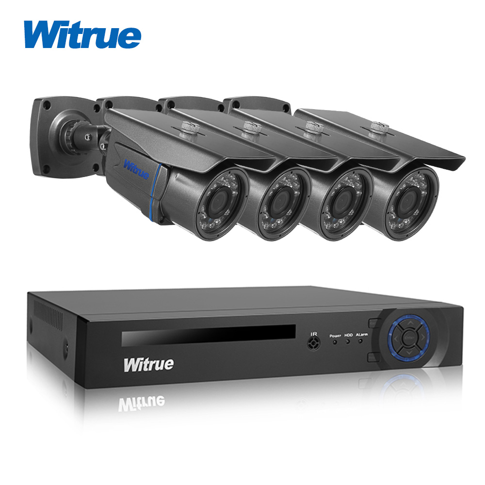 Witrue 8CH Video Surveillance System 1080P AHD H DVR 2 0MP Sony IMX323 Security Camera Outdoor