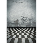 5X7FT Vinyl Photography Background Greyish white wall Black and white tiles Photography Backdrops for Photo Studio F-3226