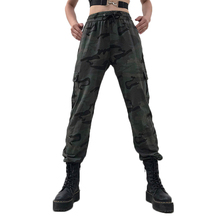 New Camo Pants Women Sweatpants Army Street Beat Camouflage Print Slim High Waist Tooling Casual Hip Hop