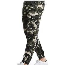 цена на 2018 Brand Men Pants Hip Hop Harem Joggers Pants Male Trousers Mens Joggers Camo Multi-pocket Army Cargo Pants Sweatpants 29-38