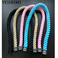 YESIKIMI 1 Pair 67cm Soft Cotton Thread Rope Handles For Obag Women S Bags Hemp Shoulder