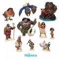 6 unids/10 Unids/set Moana Princesa Preventa 2016 NUEVA Moana Maui Waialik Heihei Figuras de Acción de Juguete Colección regalo de La Decoración