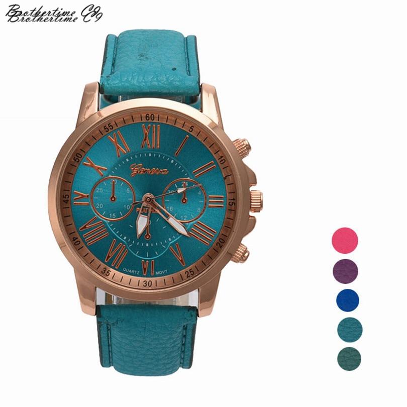 Luxury Brand Watch font b Women b font Roman Numerals Faux Leather Quartz Watch Wrist Watch