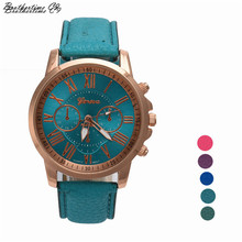 Luxury Brand Watch Women Roman Numerals Faux Leather Quartz Watch Wrist Watch Relogio Feminino Relojes  Gift Dress Watch