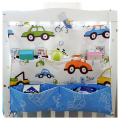 Baby Bed Hanging Storage Bag Nappy Bag Crib Organizer  Diaper Storage Bag Toy Pocket For Baby Crib Bedding Set