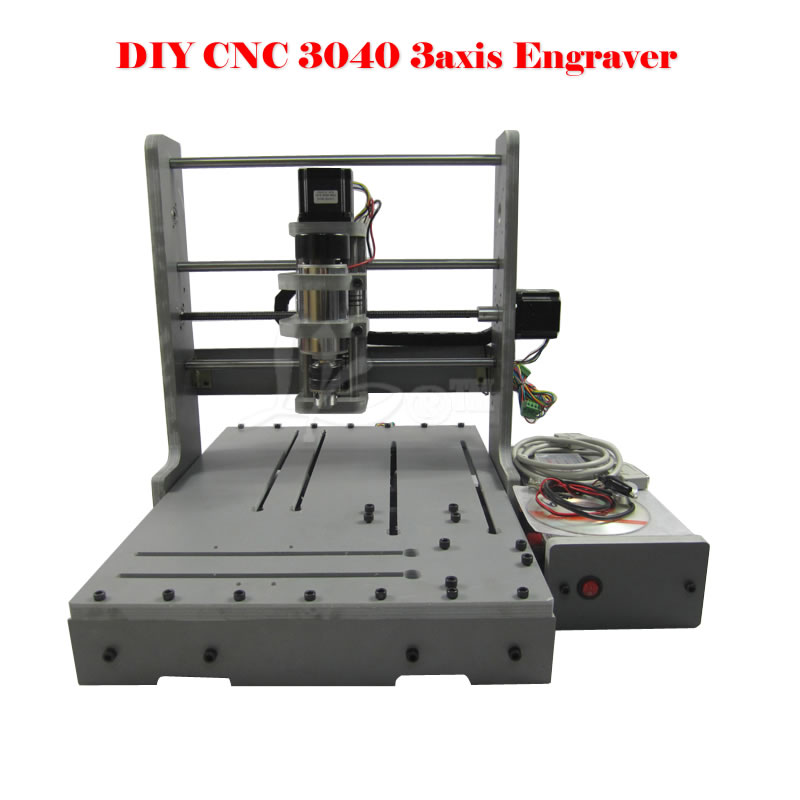 Mini engraving machine DIY CNC 3040 3axis wood Router PCB Drilling and Milling Machine 4 axis cnc machine cnc 3040f drilling and milling engraver machine wood router with square line rail and wireless handwheel