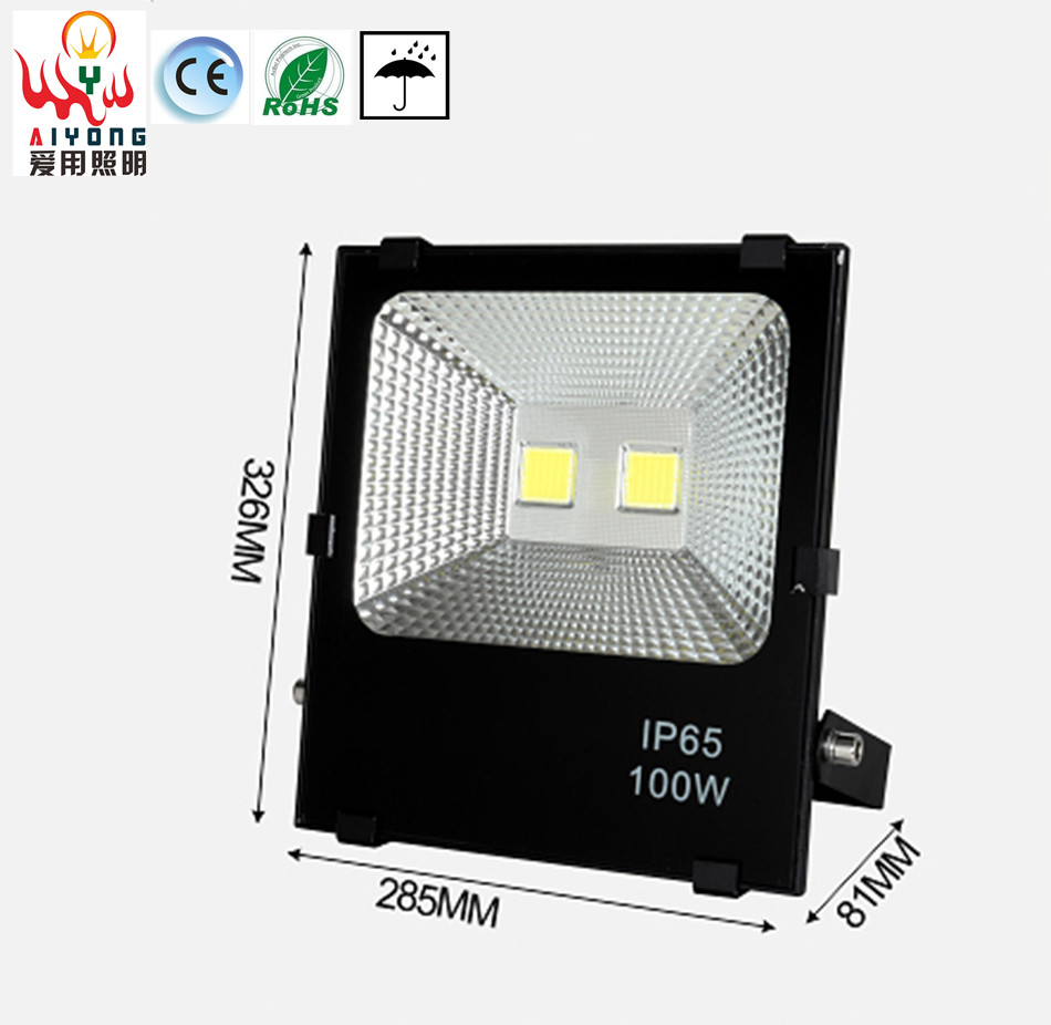 Waterproof signs 100W flood light LED outdoor lamp light projection lamp lights the roadside landscape building ultrathin led flood light 200w ac85 265v waterproof ip65 floodlight spotlight outdoor lighting free shipping