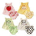 Summer Baby Girls Clothing Sets Fashion Newborn Baby Clothes Infant Jumpsuits Cotton Baby Boy Clothes Toddler Baby Vest + Shorts
