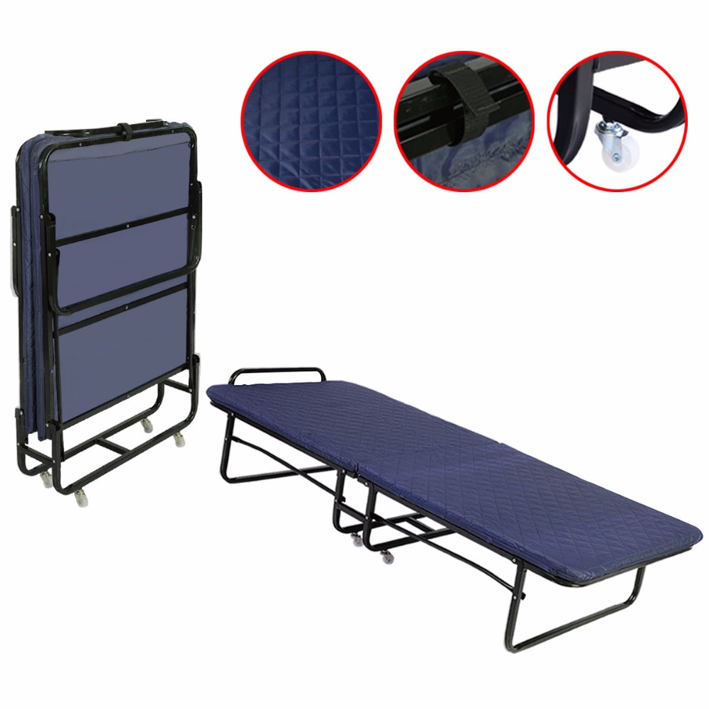 - GOPLUS Folding Bed Foam Mattress Twin Roll Away Guest Portable