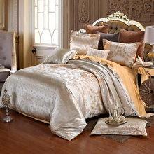home bed set Jacquard bedding set 2018 New super king bed linen set Luxury flat sheet 4pcs/set duvet cover bedclothes pillowcase