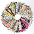 50 Pcs 10*10cm Cotton Fabric diy Patchwork Handmade Charm Pack Patchwork Bundle Fabrics DIY Textiles Fabric Sewing Scrapbook