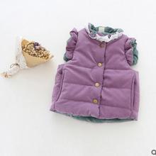 Коллекция года, осенне-зимние модели, детский жилет бархатный жилет для девочек утепленный теплый детский жилет с бантом очень красивый