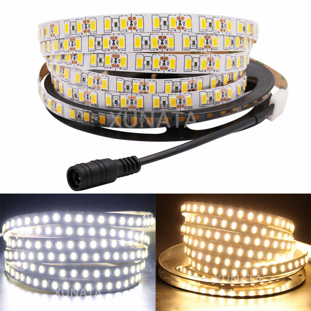 Super Bright 120leds/m SMD 5630 5730 <font><b>led</b></font> strip light Flexible 5M 600 <font><b>LED</b></font> tape DC <font><b>12V</b></font> non <font><b>waterproof</b></font> tape Ribbon lamp 1m 2m 3m 4m image