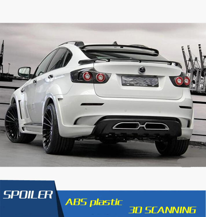 For BMW X6 F16 Spoiler High Quality ABS Material Car Rear Wing Primer Color Rear Spoiler