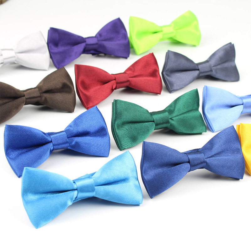 Factory Fashion Boys Solid Candy Color Bow Tie Adjustable Kid Children Pure Butterfly Party Holiday Christmas Gifts Bowknot