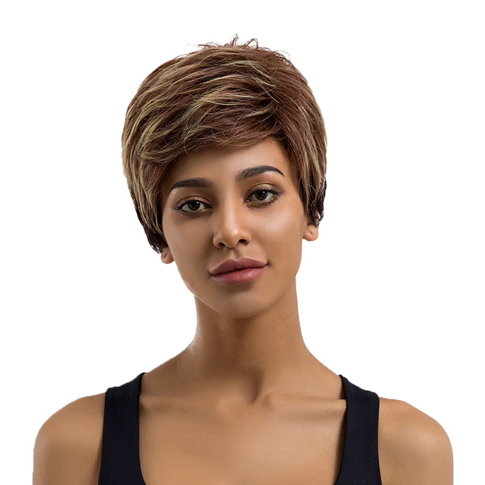 Short Straight Hair wigs front lace short human hair wigs blonde wigs synthetic hair wigs for women human hair 6423A sf short lace front bob wigs for black women 9a pre plucked unprocessed virgin human hair brazilian wig with baby hair page 5