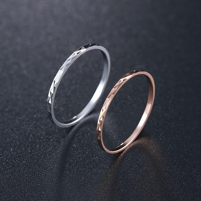 100% QualitäT Einfache 925 Sterling Silber Ringe Für Frauen Mode Raute Muster Dünne Hochzeit Ringe Dame Partei Schmuck Finger Knuckles Ringe