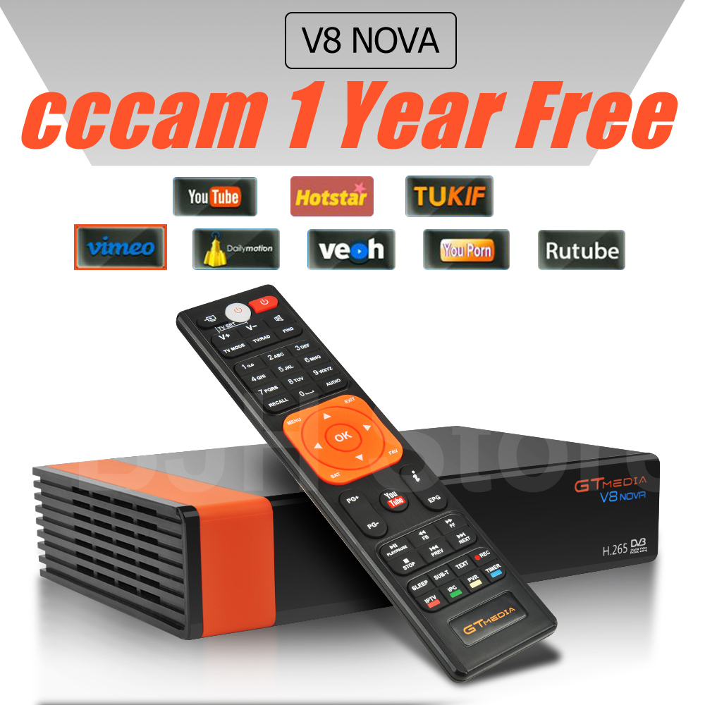 3Pcs/lot Gtmedia V8 NOVA same as free sat V9 SUPER DVB S2 satellite receiver Built in wifi support H.265 AVS same as V8 super 1