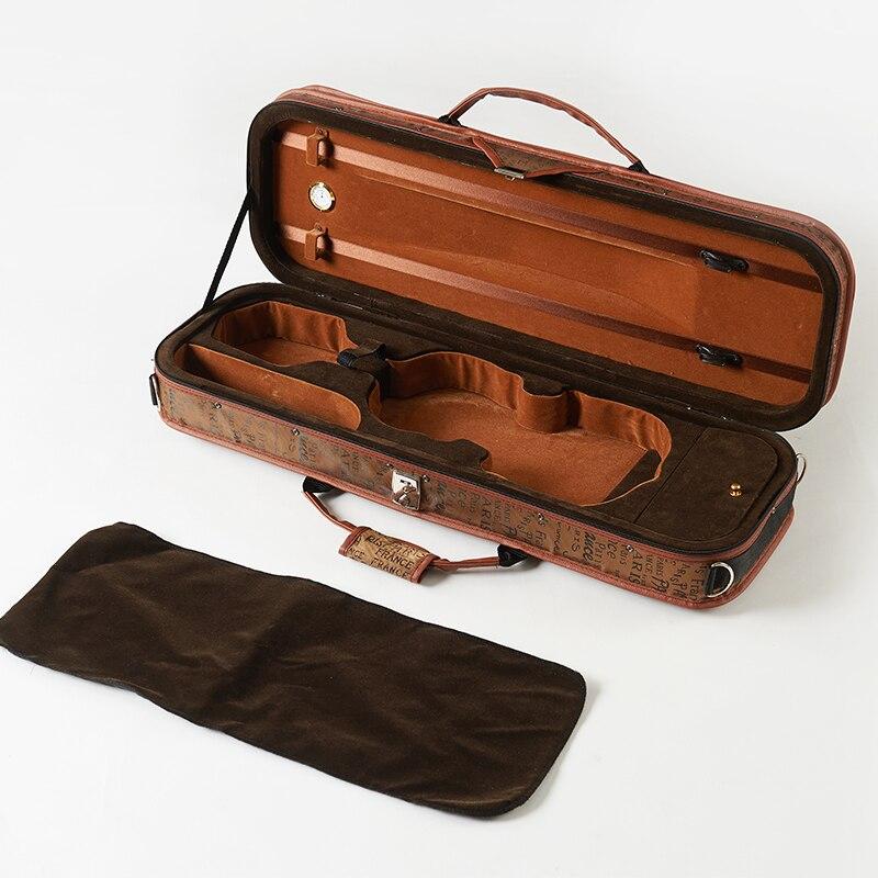 4/4 caixa de violino de aço para instrumentos de cordas de violino acessórios peças