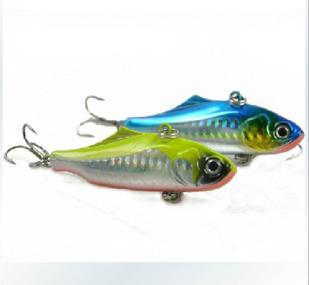 Deep sea Fishing Metal Jigbait Jig Lure Spoon Treble Hook Spinner baits 20g 73mm Free shipping