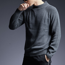 2020 New Fashion Brand Sweater Man Pullovers Turtleneck Slim Fit Jumpers Knitwear Thick Autumn Korean Style Casual Mens Clothes