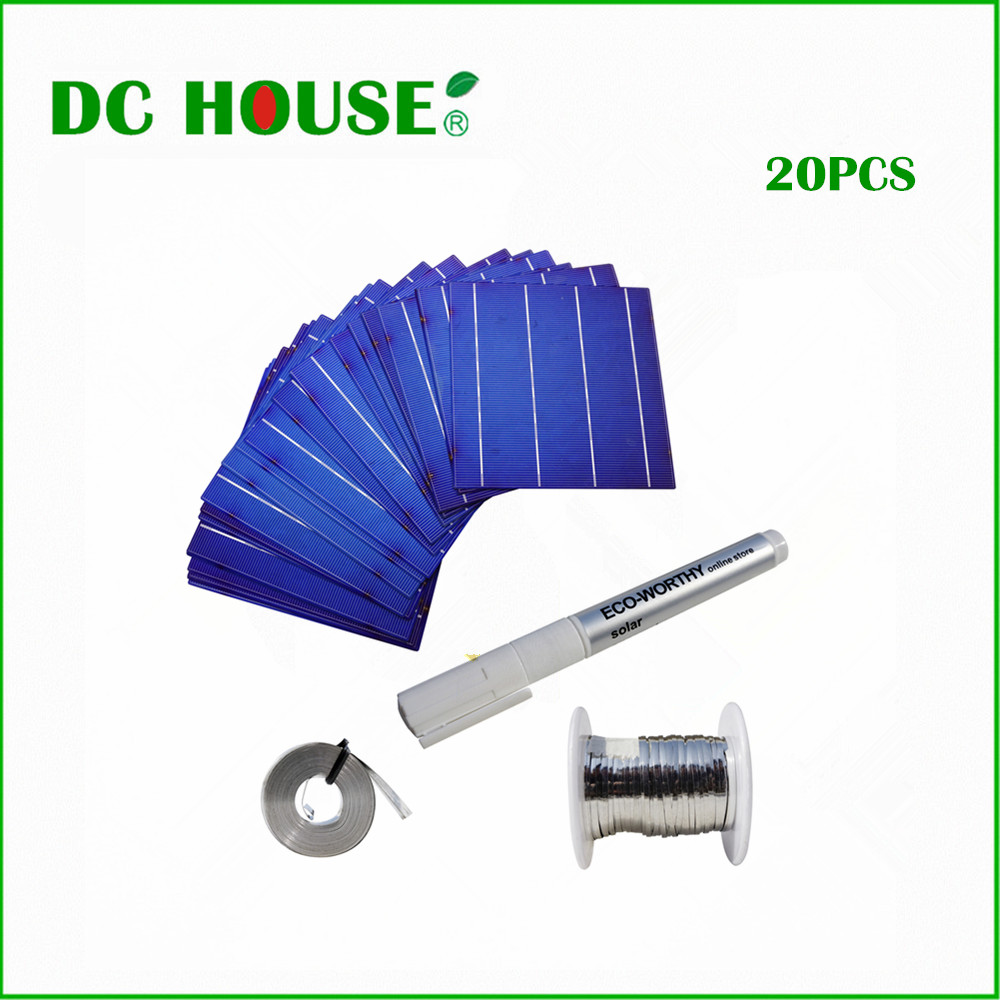 Detail Feedback Questions About Hot 20pcs 6x6 Poly Solar Cells Wiring A House For Power Tabbing Wire Flux Pen Bus Diy Panels 156mm Polycrystalline Cell