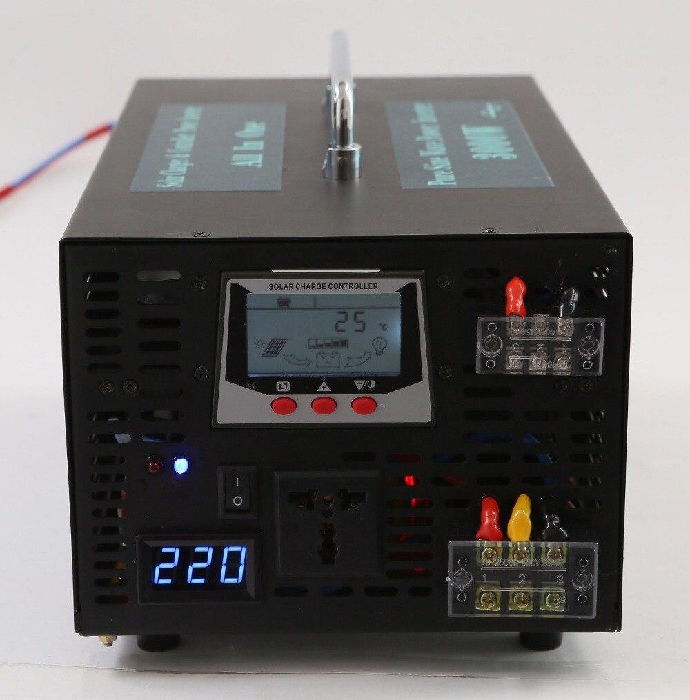 цена на Solar Grid Pure Sine Wave Power Inverter 3000W Pure Sine Wave Inverter 12v 220v 30A Solar Controller Hybrid Inverter