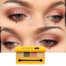 ROREC Fashion Eye shadow Palette 4 Colors Shimmer Shadow Long-lasting Waterproof Glitter Natural Makeup
